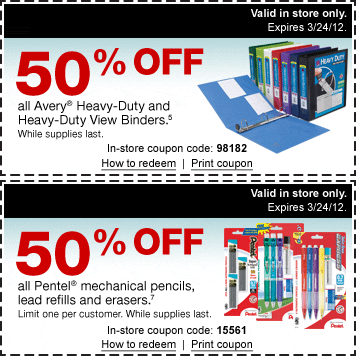 graphic regarding Coupon Binder Printable known as Staples Printable Coupon codes: 50% off Crayola Products and solutions As well as